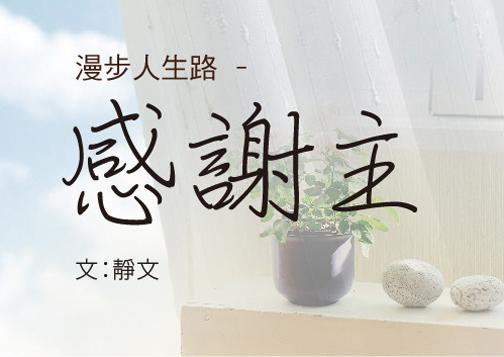 漫步人生路 ─ 感謝主 文:靜文